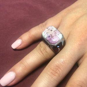 Alan K Pink Sterling Silver Ring